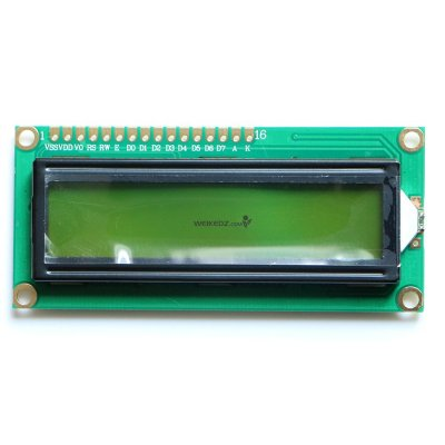 1602 Character LCD Display Module Yellow Ba