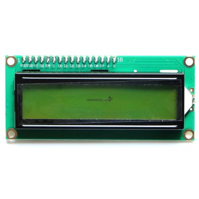 IIC/I2C 1602 Yellow-Green Backlight LCD Dis