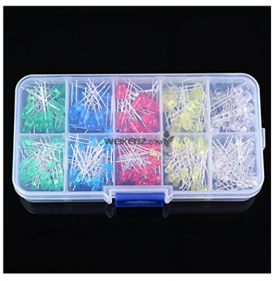 300pcs 3mm 5mm LED Light Assorted Kit DIY
