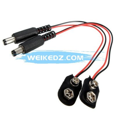 9V Battery Buckle Snaps Power Cable Connect