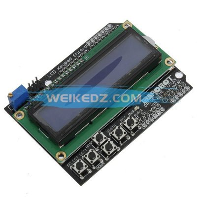 Keypad Shield Blue Backlight For Arduino Ro