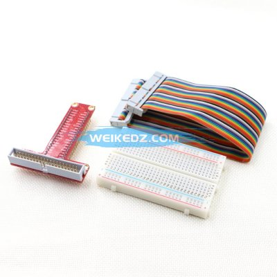 GPIO Cable + breadboard + GPIO T-Adapter Plate Raspberry Pi 3/&Raspberry Pi 2 Model B Plus T Expansion DIY kit