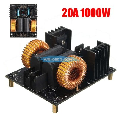 20A 1000W ZVS Low Voltage Induction Heating